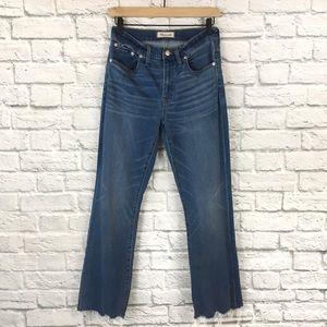 Madewell Raw Hem Cali Demi-Boot Jeans Size 27